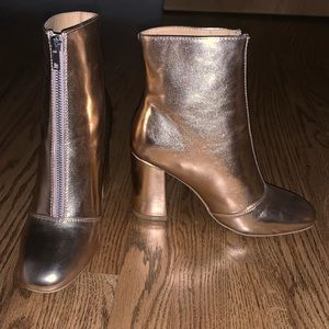 New Gold Ankle Booties